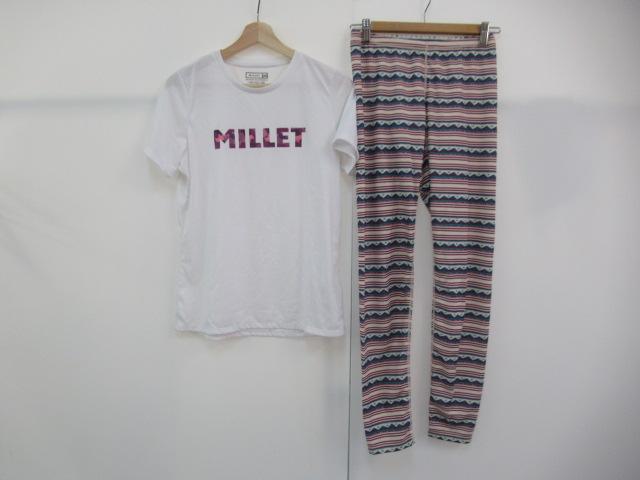Millet(ミレー) スカイ ロゴ Tシャツ S/S+レディース タイツセット