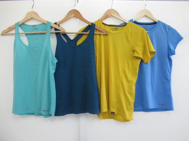 patagonia(パタゴニア) キャプリーンLW Tシャツ+レディーストップス 4点セット