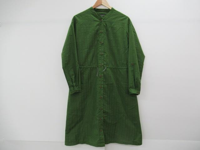 Marmot(マーモット) シアサッカーシャツ グリーン シダ