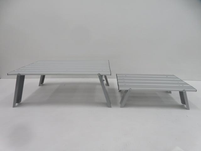 CAPTAIN STAG(キャプテンスタッグ) ロースタイルアルミロールテーブル セット