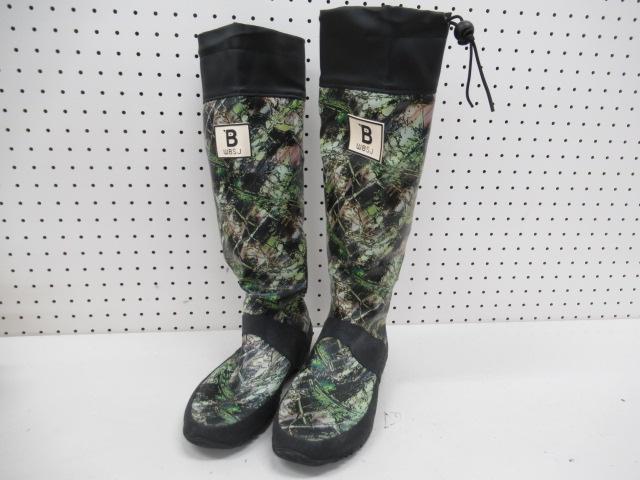その他ブランド 日本野鳥の会 バードウォッチング長靴 カモフラージュ柄