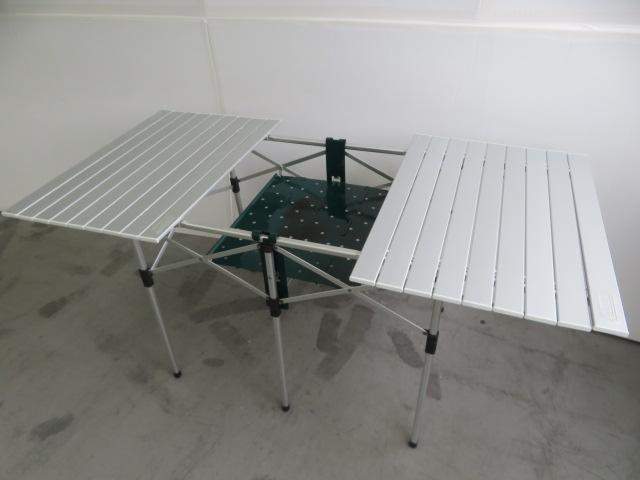 Coleman(コールマン) バーベキューグリルラック付アルミロールテーブル